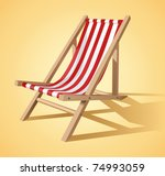 beach chair vector | Shutterstock .eps vector #74993059