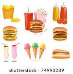 Big Set Of Fast Food Products....