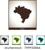 map of brazil | Shutterstock .eps vector #749933866