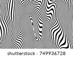 abstract curved stripes pattern ... | Shutterstock .eps vector #749936728