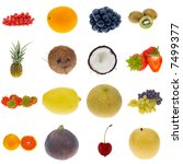 Fruit Collection Isolated On A...