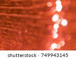blurred background of orange... | Shutterstock . vector #749943145