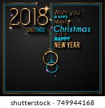 2018 happy new year background... | Shutterstock . vector #749944168