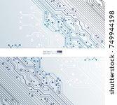 vector circuit board... | Shutterstock .eps vector #749944198