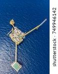 bird eye view of offshore oil...   Shutterstock . vector #749946142