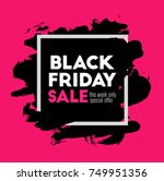 black friday. holiday sale.... | Shutterstock .eps vector #749951356