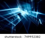 abstract blue toned background... | Shutterstock . vector #749952382