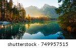 fabulous autumn sunrise of... | Shutterstock . vector #749957515