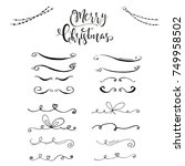 collection of hand drawn... | Shutterstock .eps vector #749958502