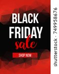 vector black friday sale design ... | Shutterstock .eps vector #749958676