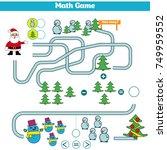 mathematics educational game... | Shutterstock .eps vector #749959552