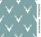 seamless winter pattern with  ... | Shutterstock .eps vector #749960245