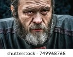 Homeless Poor Man Crying...