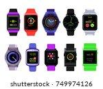 smart watch set   Shutterstock .eps vector #749974126