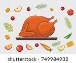 roasted turkey and vegetable