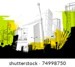 urban abstract collage   Shutterstock .eps vector #74998750