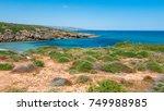 cala mosche  vendicari natural... | Shutterstock . vector #749988985