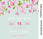 wedding invitation or... | Shutterstock .eps vector #749991982
