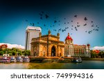 gateway of india at morning ... | Shutterstock . vector #749994316