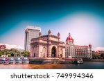 gateway of india at morning ... | Shutterstock . vector #749994346