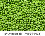 Green peas. green background....