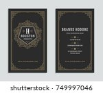 business card vintage ornament... | Shutterstock .eps vector #749997046