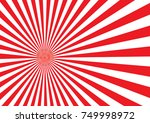 red japan light ray design with ... | Shutterstock .eps vector #749998972