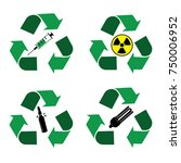 different recycle waste bins... | Shutterstock .eps vector #750006952