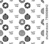 monochrome minimalistic tribal... | Shutterstock .eps vector #750008842