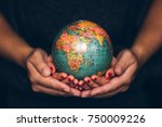 man's and woman's hands holding ... | Shutterstock . vector #750009226