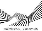 black and white stripe line...   Shutterstock .eps vector #750009385