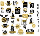 sale badges and stickers... | Shutterstock .eps vector #750012052