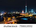 berlin  germany. aerial view of ... | Shutterstock . vector #750013552