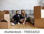 indoor picture of stylish young ... | Shutterstock . vector #750016312