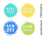 best choice special offer 40 ... | Shutterstock .eps vector #750016816