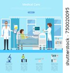 medical care hospital review... | Shutterstock .eps vector #750020095