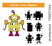 shadow matching game for... | Shutterstock .eps vector #750027316