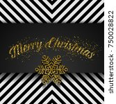 merry christmas greeting card.... | Shutterstock .eps vector #750028822