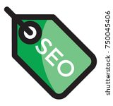 vector icon of a tag  search... | Shutterstock .eps vector #750045406