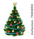 3d illustration of dark green... | Shutterstock . vector #750048502