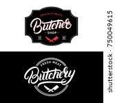 set of butcher shop and...   Shutterstock . vector #750049615