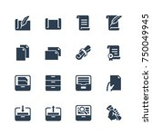 paper  documents and archive... | Shutterstock .eps vector #750049945