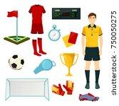 soccer or football sport icons. ... | Shutterstock .eps vector #750050275