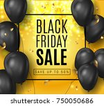 black friday sale ads with...   Shutterstock .eps vector #750050686
