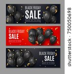 black friday sale horisontal... | Shutterstock .eps vector #750050698