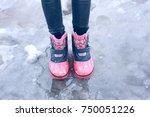 winter children's boots  ...   Shutterstock . vector #750051226