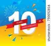 anniversary celebration of...   Shutterstock .eps vector #750052816