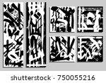 cards template. modern... | Shutterstock .eps vector #750055216