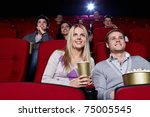attractive people are watching... | Shutterstock . vector #75005545