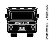 ambulance flat icon   Shutterstock .eps vector #750060022